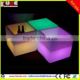 Rechargeable Ice Bucket LED Bar Furniture /LED cube cooler/ Ice Buckets Indoor or Outdoor L40*W40*H40CM