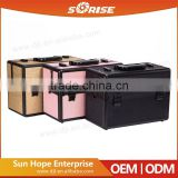 Factory Price Hairdressing Artist Portable Aluminum Makeup Box