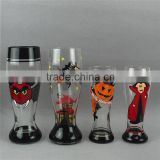 Christmas Halloween Hallowmas gift hand painting beer glass