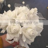 2015 LATEST ARRIVAL Artificial Flowers Fine Design beading brooch wedding bouquet