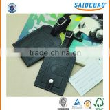 Beautiful made Customized wholesale Leather luggage tag with embossed logo,excellent quality card holder for travel