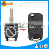 flip car key chave blank shell wholesale with 3 button left blade for opel vectra b meriva corsa d zafira b vivaro