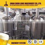 SUS304 / glass/ copper / brass optional material micro beer brewery equipment 5bbl 7bbl 10bbl15bbl beer brewery equipment