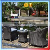 light weight cheap french rattan bistro coffee table sets with chairs