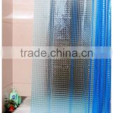 Eco-friendly Fashion 3D PEVA Shower Curtain with Rust Proof Eyelets, Hot selling eva shower curtain in good quality