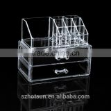 Wholesale Transparent Acrylic Makeup Organizer With Drawers / Acrylic Organizer For Cosmetics