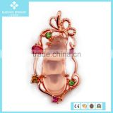 Insect Natural Quartz Rose Gold Colour State Charms Necklace Pendant Wholesale