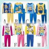 New Despicable Me Suits Boys minion Pajamas Baby Cartoon Pyjamas Pijamas Children's Clothing sets Kids Sleepwears