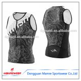 Men High quality grey sublimation printed triathlon suits freely logo design wears