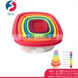 7 PCS/LOT Cheap Plastic Food Container With Lid Microwave Lunch Box Takeaway Food Container