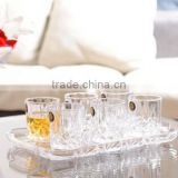 square 950ml wine glass decanter sets with 4 pcs cups