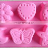 moon star and animal shape Muffin Sweet Candy Jelly fondant Cake chocolate ice Mold Silicone tool Baking Pan