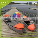 2016 New Style Recreational crystal canoe,sea kayak,transparent kayak