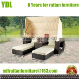 Youdeli Outdoor UV rattan aluminium patio furniture double chaise lounge