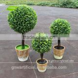 GP002-01 GNW artificial topiary grass ball plant with mini flower pot for home living room decoration
