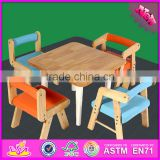 2016 new design baby wooden study desk., fashion kids wooden study desk, popular chidlren wooden study desk W08G179