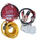 S80032 roadside auto safty/car emergency kit with tow rope