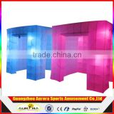 2017 High quality inflatable photo booth LED cube tube enclosure 3d photo booth made in Guangzhou Inflatable factory for sale