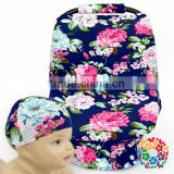 Navy Floral Stretchy Baby Car Seat Covers Multi-fonction Car Seat Cover For Baby Stroller Mum Breast Feeding Nursing Cover