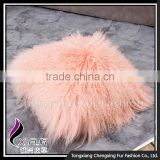 CX-D-04G Elegant Mongolian Lamb Fur Pillow Cover Cases