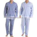 Fashion custom mens cotton plain long sleeve sleepwear nightshirt wholesale