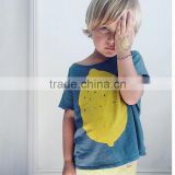 S17512A 2017 Fashion Lemon Printed T-shirt Baby Boy T shirts