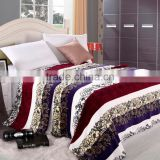 winter bed sheet air condition sheet cover polyester micro flannel bed throw