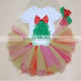 Christmas Baby Girls' 2 Pieces Costume with Headband Tutu Romper Outfits Set