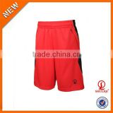 Red black matching waterproof basketball shorts/70% polyester 30% cotton men crossfit shorts with wholesale price