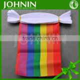 Free design Polyester Gay pride Custom Size Colorful Rainbow Bunting Flags