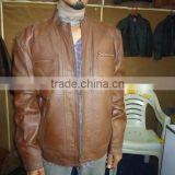 High quality brown lamb leather jacket for men