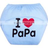 blue color love father design 100 cotton reusable baby cloth diaper