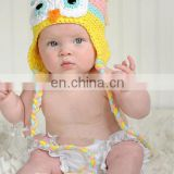 Wholesale Newborn Hat ,Baby Girl Pink/Yellow Animal Hat Ear Flap OWL Toddler Girl Beanie