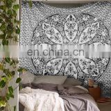 Indian Black Ombre Queen Mandala Bedspread Wall Art Tapestry Throw Blanket Throw Wall Hanging Wall ethnic art picnic Wholesale