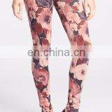 86% nylon 14% spandex dry fit sublimated custom women's yoga leggings