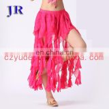 Arabic long chiffon ladies belly dance dress Q-6017#