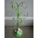 green tree branch decoration jewel hook holder with eggs