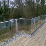 Modern Aluminium Glass Balcony / Fence / Deck Railing with U Channel