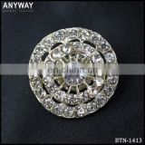 Crystal Round shape Garment Rhinestone button for jeans