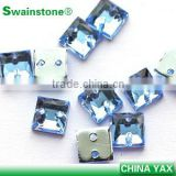 0506L China wholesale sew on sew on mirrors, AB faceted sew on gems, sew on beads embellishment for wedding dress