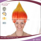Colorful Costume Proenvironment Synthetic carnival party troll wig caps