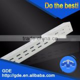 chrome metal square double hole slotted stripping