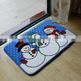 snowman design printed bath mats christmas heated bath mat