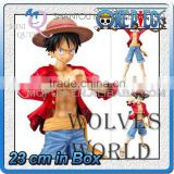 MINI QUTE 23 cm Japanese anime one piece action figure change styles Monkey D Luffy brinquedos boys in box NO.MQ 083