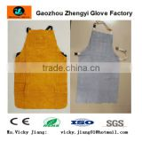 Yellow cow split leather welding apron