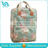 Korean Style Floral Oilcloth Diaper Bag Backpack Waterproof Baby Diaper Bag Backpack                                                                         Quality Choice