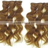 Human hair clip in hair/lace wig