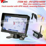 RV-GPS7000 7 Inch gps navigation system bluetooth reverse camera with 7inch monitor, CMOS/CCD camera