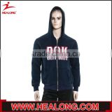 high quality wholesales 100 elasticity fleece screen printing embroidery plain black hoodie