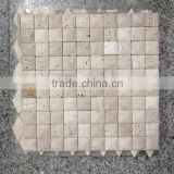 High quality polished beige travertine mosaic tile